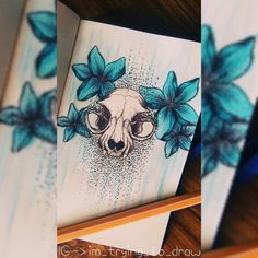 First sketch in my new sketchbook! ❤ #sketch #skull