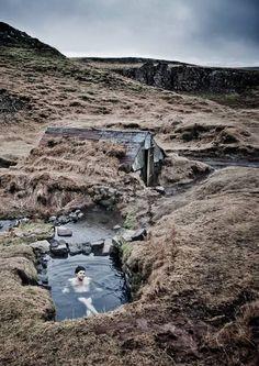 Iceland has some pretty unique hot tubs!   Svava Sparey Yoga Holidays #iceland #travel