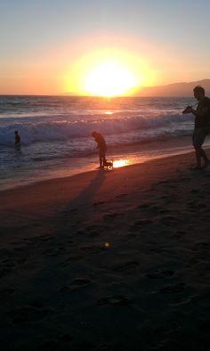 Beautiful Sunset from Venice Beach, California.