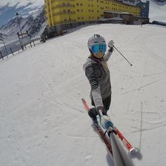 Another beauty! Might even smash some gates today⚡️ @skiportillo #gopro #funolympics