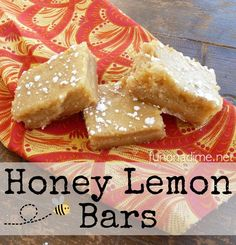 Honey Lemon Bars - c