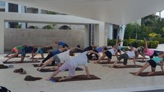 NRG2GO Jody Wohl Trostler  Teaching yoga is an amazing experience at  @RoyaltonPCana #nrg2go #RoyaltonPuntaCana