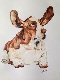 Basset hound illustration for a friend