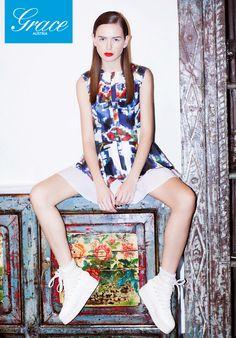 We Are Selecters - Ksenia Schnaider - Ukraine goes global Fashion Labels, Ss 15, Spring 2015, Flower Prints, Ukraine, Short Sleeve Dresses, Collection, Magazine, Image