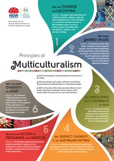 Principles of Multiculturalism Poster / NSW Government by Rachael Meader, via Behance