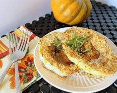 coconut crusted acorn squash- replace wheat flour with almond flour-