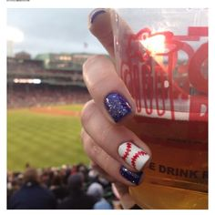 Baseball Season nail ideas.