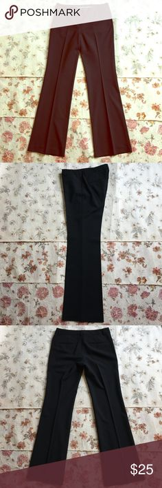 Black Express Editor trousers In PERFECT condition and just dry cleaned! Size 4 long. A wardrobe essential and a truly great pant. Only selling because sadly I no longer fit into them. Express Pants Trousers