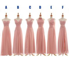 long bridesmaid dress long prom dress chiffon by sposadress, $119.00 Convertible and available in ALL colors.