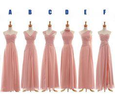 long bridesmaid dress long prom dress chiffon by sposadress, $119.00
