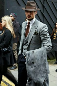 This is how to style a hat and some sharp tailored gear. Classic! #menswear