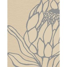 Protea Rug in Stone with Dove Grey Protea Art, Protea Flower, Art Floral, Art Paintings, Watercolor Paintings, Lino Art, Laser Art, Stencil Art, Teaching Art