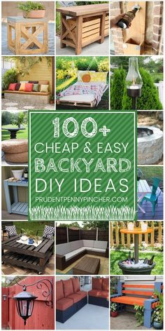 Patio furniture, fire pits and other outdoor items are SO expensive to buy so save some money with these cheap and easy DIY backyard ideas! Outdoor 100 Cheap and Easy DIY Backyard Ideas Budget Patio, Patio Diy, Rustic Patio, Cuadros Diy, Diy Home Decor For Apartments, Diy Simple, Backyard Landscaping, Backyard Pools, Pergola Ideas