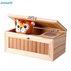 Cute Tiger Electronic Wooden Toys For Kids Funny Box With Audio Version 20 Modes #Unbranded
