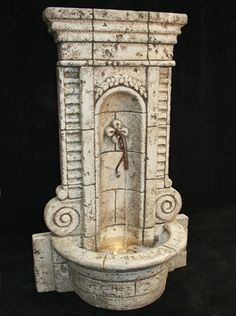 Champagne Wall Garden Water Fountain