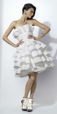 ℘ Paper Dress Prettiness ℘ art dress made of paper - Gentle Waves by Rachael Duval