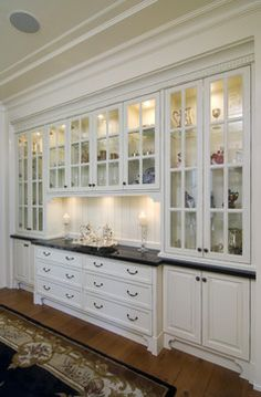 Traditional Dining Room Design, Pictures, Remodel, Decor and Ideas - page 89 diy Dining room hutch Dining Room Storage, Dining Room Buffet, Dining Room Design, Kitchen Dining, Dining Room Cabinets, Farmhouse Cabinets, Home Decor Kitchen, Interior Design Kitchen, Home Kitchens
