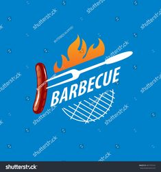Party Logo, Logo Ad, Barbecue, Royalty Free Stock Photos, Branding, Graphics, Colour, Illustration, Image