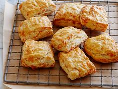 Recipe of the Day: Buttermilk Cheddar Biscuits  The secret to Ina's perfect, cheddar-loaded biscuits is to use cold ingredients. As they bake, the ice-cold butter melts and steams, making them light and flaky.
