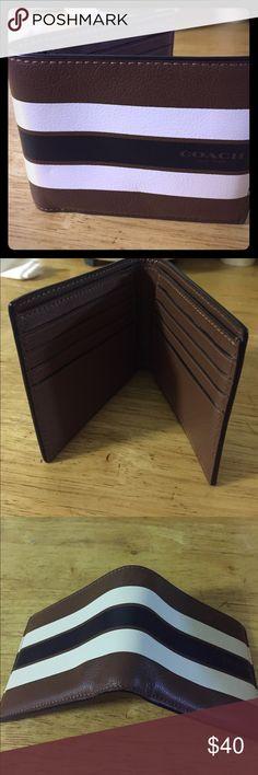 Coach Men Wallet Brand New multi brown color men's Coach wallet Coach Bags Wallets
