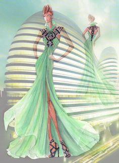 Blanka Matragi - Sketch of Gown