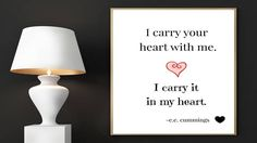 E.E. Cummings Print, I Carry Your Heart With Me, I Carry It In My Heart, Digital Art, Printable Art, Literary Quote, Prints, Cummings Poster by EducationalArtPrints on Etsy