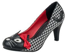 Gingham Kitty Anti Pop Heel - T.U.K. Shoes | T.U.K. Shoes