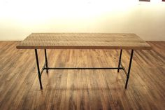 Reclaimed Wood Dining Table With Industrial Steel Table Legs from Everlasting Beauty Wood Table Legs on Category Furniture