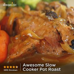 Awesome Slow Cooker Pot Roast | This simple pot roast makes its own gravy in the slow cooker.