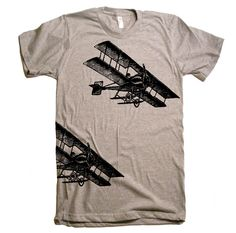 Mens Vintage Fighter Planes T Shirt - American Apparel Tshirt - XS S M L XL and XXL (28 Color Options). $20.00, via Etsy.