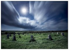 The Merry Maidens by Moonlight - Ancient Sites  Angie Latham