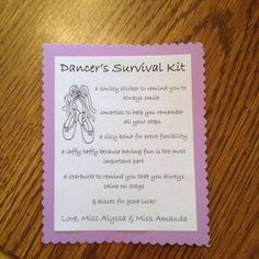 Made these for my little dancers !