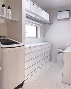 Natural Interior, Laundry Room Design, Home Design Plans, Washroom, House Rooms, Girl Room, Washing Machine, Home Appliances, House Design
