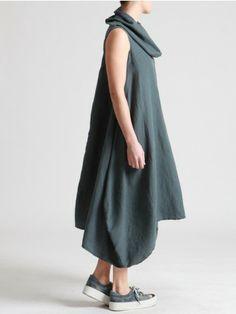 LONG DRESS MADE OF TENCEL-LINEN - JACKETS, JUMPSUITS, DRESSES, TROUSERS, SKIRTS, JERSEY, KNITWEAR, ACCESORIES - Woman -