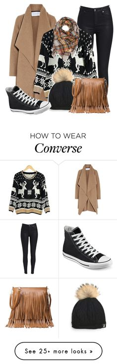 """"""""""" by maiiira-nair on Polyvore featuring Harris Wharf London and Converse"""