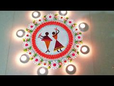नवरात्र की दांडिया रंगोली Top Beautiful Rangoli Design Rangoli for Navratri/Diwali 2019 Latest Rangoli Designs Images, Free Hand Rangoli Design, Small Rangoli Design, Rangoli Designs With Dots, Beautiful Rangoli Designs, Kolam Designs, Mehndi Designs, Happy Diwali Rangoli, Diwali Special Rangoli Design