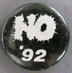 """""""No '92"""". Campanya en contra de la celebració dels Jocs Olímpics de Barcelona '92"""
