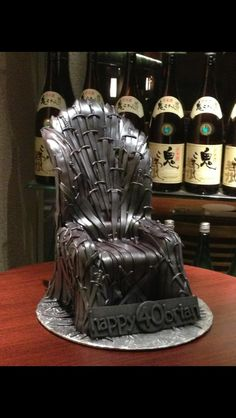 Fan Creations — This is my Iron Throne cake. It is entirely...