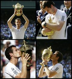 my hero winning wimbledon this is what you call a role model in the sport that i love Andy Murray Wimbledon, Wimbledon 2013, Wimbledon Tennis, Kim Murray, Sports Personality, Tennis Stars, World Of Sports, Sports Stars, Tennis Players