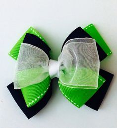 Seahawks little girls hair bow by MiosBows on Etsy, $5.00