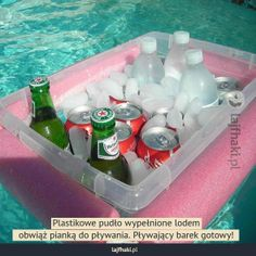 DIY floating cooler- cut a noodle and tie a rope through it, around a Rubbermaid bin. genius wish I knew this when I had my pool! Do It Yourself Furniture, Do It Yourself Home, Summer Fun, Summer Time, Hello Summer, Summer Ideas, Summer Pool, Summer Loving, Summer Feeling