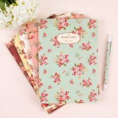 Lined Notebook [Floral pattern] / Flower Ruled Notebook /Spiral Notebook/Lined Scrapbook, Journal/Bullet Journal/School Notebook, Supplies Notebook Cover Design, Lined Notebook, Notebook Covers, Journal Notebook, Notebook Drawing, Study Journal, Stationary School, Cute Stationary, Beautiful Notebooks