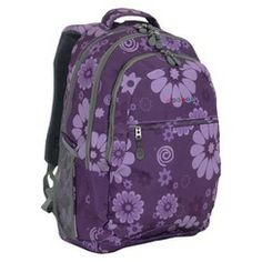 JWorld Cornelia Laptop Backpack - Purple Flower