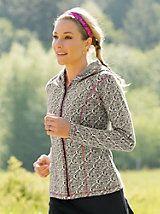 Women's Jacquard Hoodie Jacket, Plus Size   Sahalie
