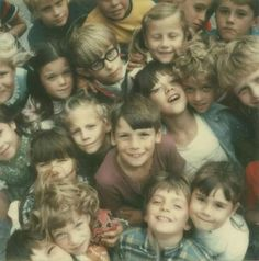 Co Rentmeester, Children at a school in Lancaster County, Penn., photographed with a Polaroid SX-70 camera, 1972