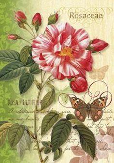 Custom Decor Flag - Vintage Rose