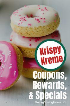 Find out how to get Krispy Kreme Coupons, Rewards, and Specials! Don't pay full price on your favorite Krispy Kreme Donut! Quick Dessert Recipes, Healthy Desserts, Easy Desserts, Restaurant Deals, Recipes With Few Ingredients, Money Saving Mom, Maple Glaze, Krispy Kreme, Frugal Meals