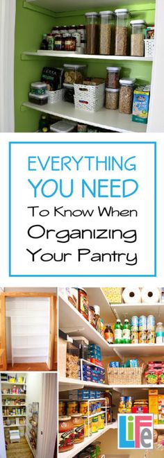 This is the ULTIMATE how to when organizing any pantry, her tips are universal no matter matter what size of pantry you have.  LOVE it!