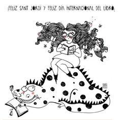 Ferias del libro este finde #DiadelLibro http://domandoallobo.blogspot.com.es/2015/04/51-diadellibro.html … (Ilustración: Sara Fratini)