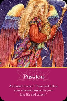 Passion from the Doreen Virtue's Healing with the Angels Oracle Cards